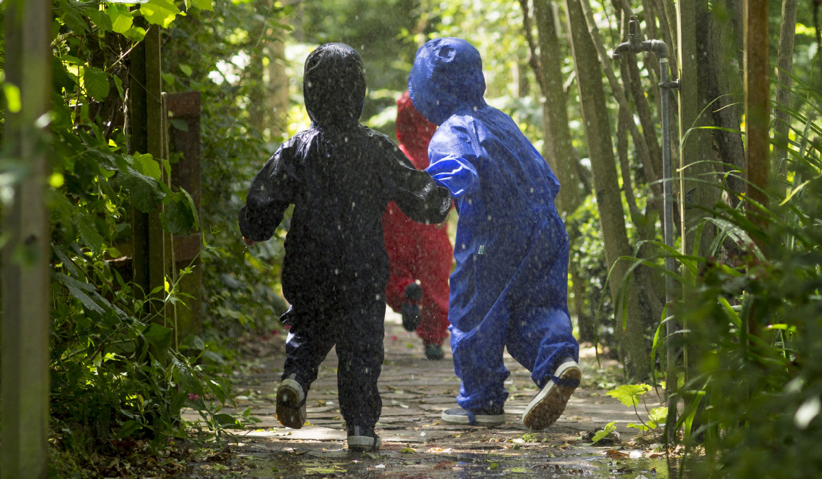 Outdoor Learning has many benefits for nursery school children