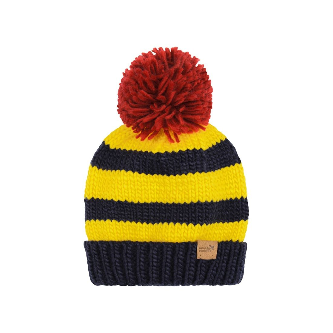18e1078c6f5 Knitted bobble hat navy yellow muddy puddles jpg 1100x1100 Yellow bobble hat