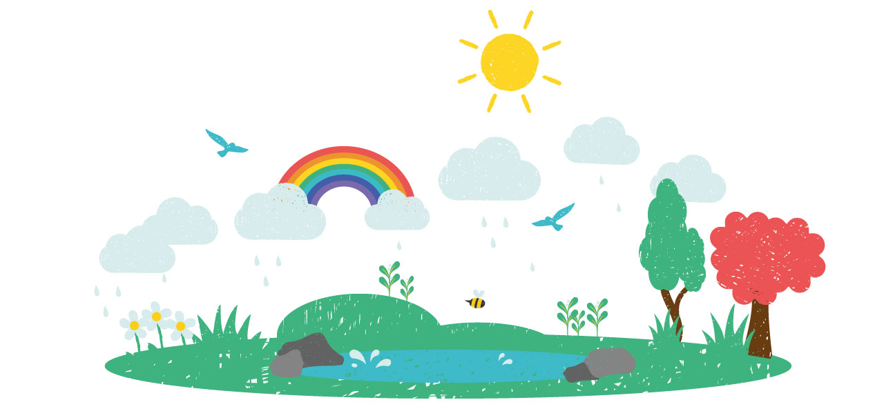 Muddy puddles sustainability - earth graphic